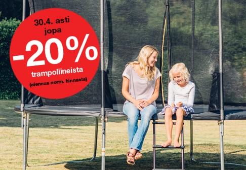 -20% trampoliineista