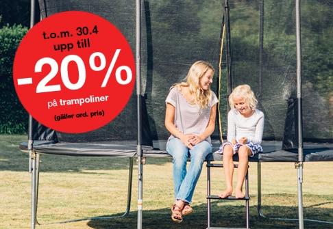 -20% på trampoliner