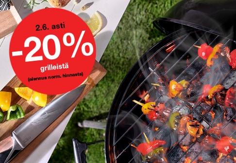 -20% grilleistä