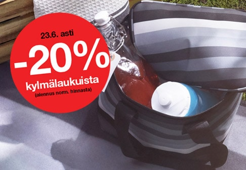 -20% kylmälaukuista