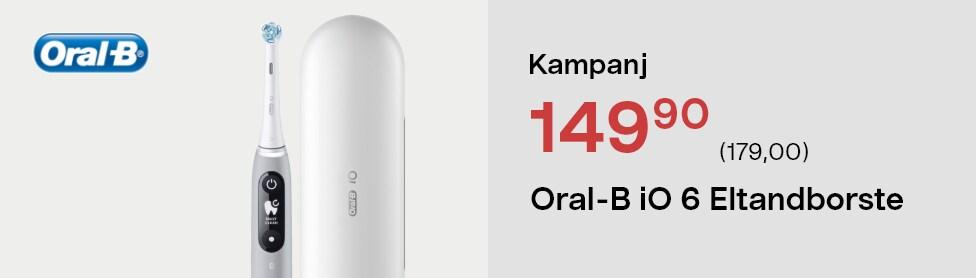 Oral-B iO 6 eltandborste, 5 borstlägen
