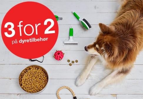 3 for 2 på dyretilbehør