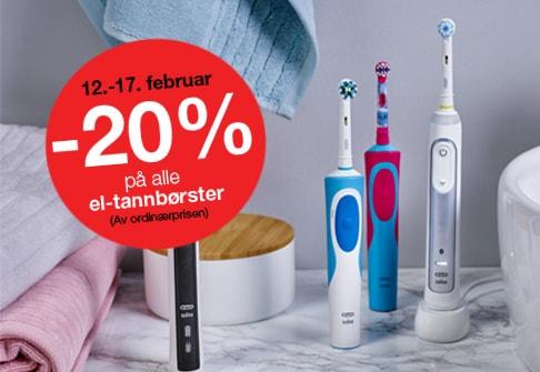 30% på alle el-tannbørster