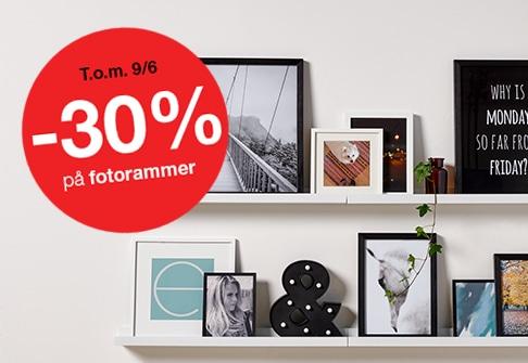 30% på fotorammer