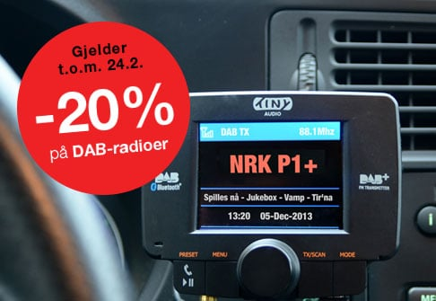 -20% på DAB-radioer
