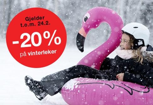 -20% på vinterleker