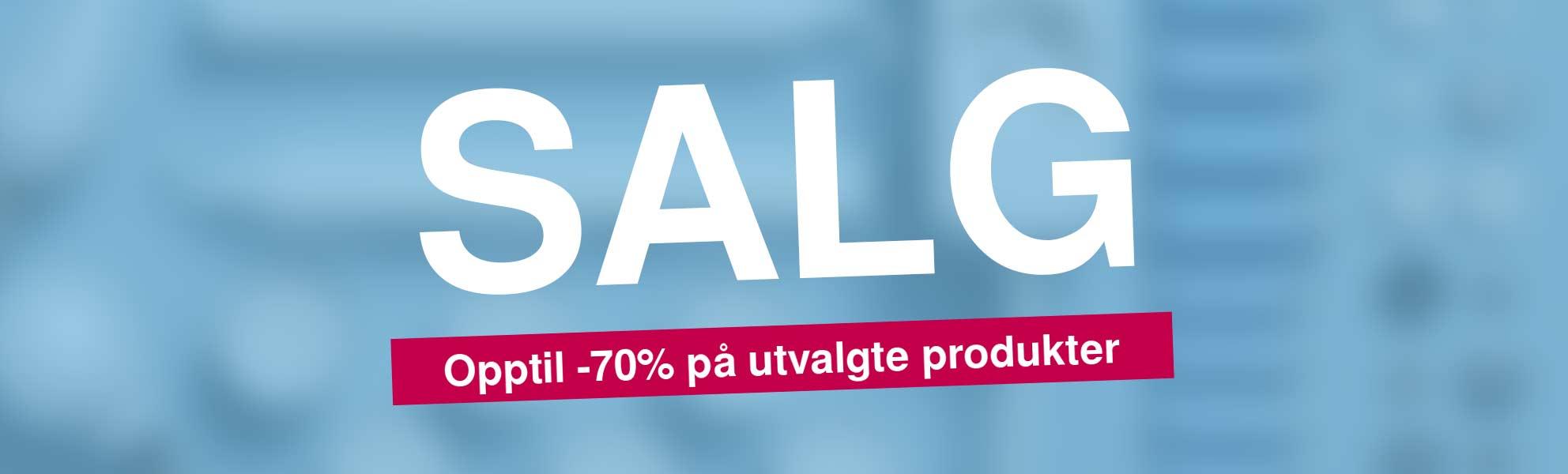 Salg! Upptil -70% på utvalgte produktene