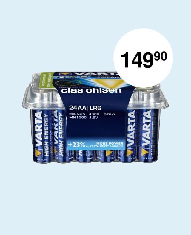 VARTA Longlife Power alkalisk batteri 24 pk