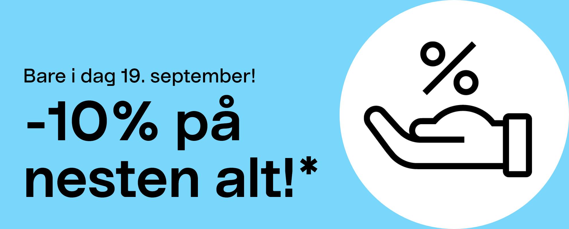 Klubbdager Endast idag — 19 september.