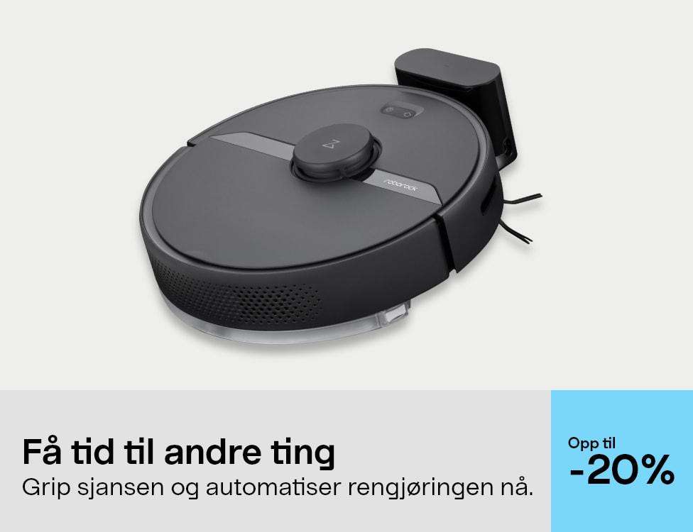 20% robotstøvsugere