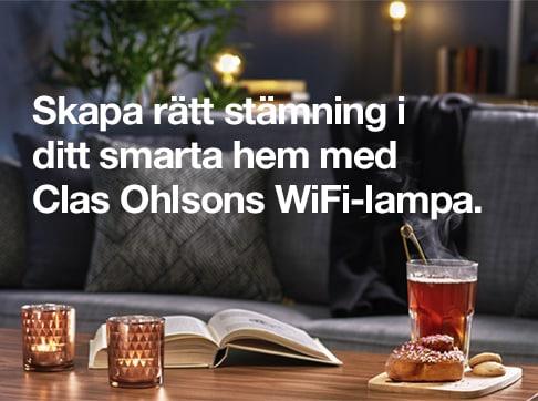 Skapa rätt stämning i ditt smarta hem med Clas Ohlsons WiFi-lampa