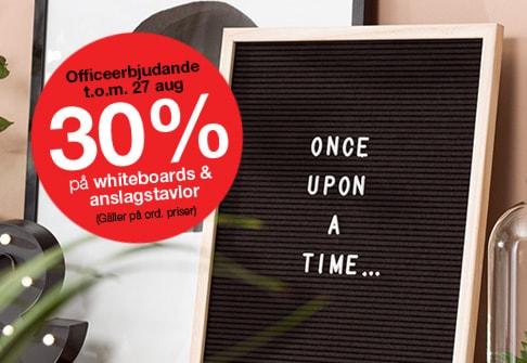 Whiteboards och anslagstavlor