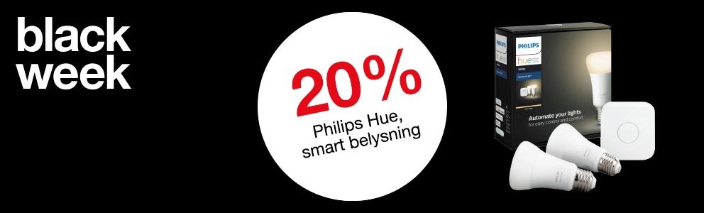 20% på produkter från Philips Hue