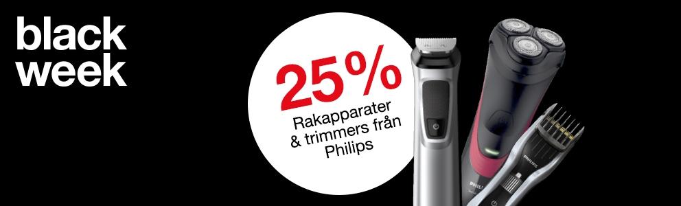25% på rakapparater & trimmers från Philipse
