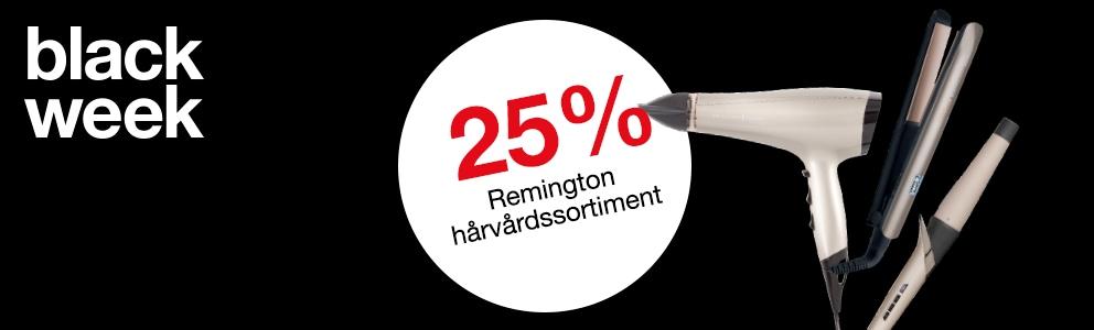 25% på hårvårdsprodukter från Remington