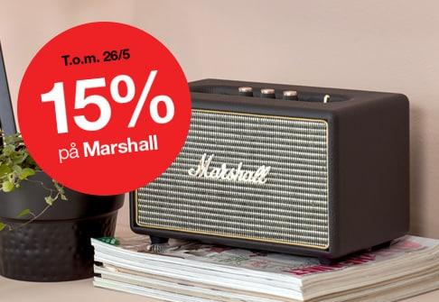 15% på Marshall