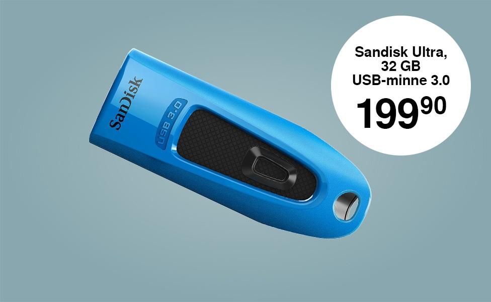 Sandisk Ultra, 32 GB USB-minne 3.0