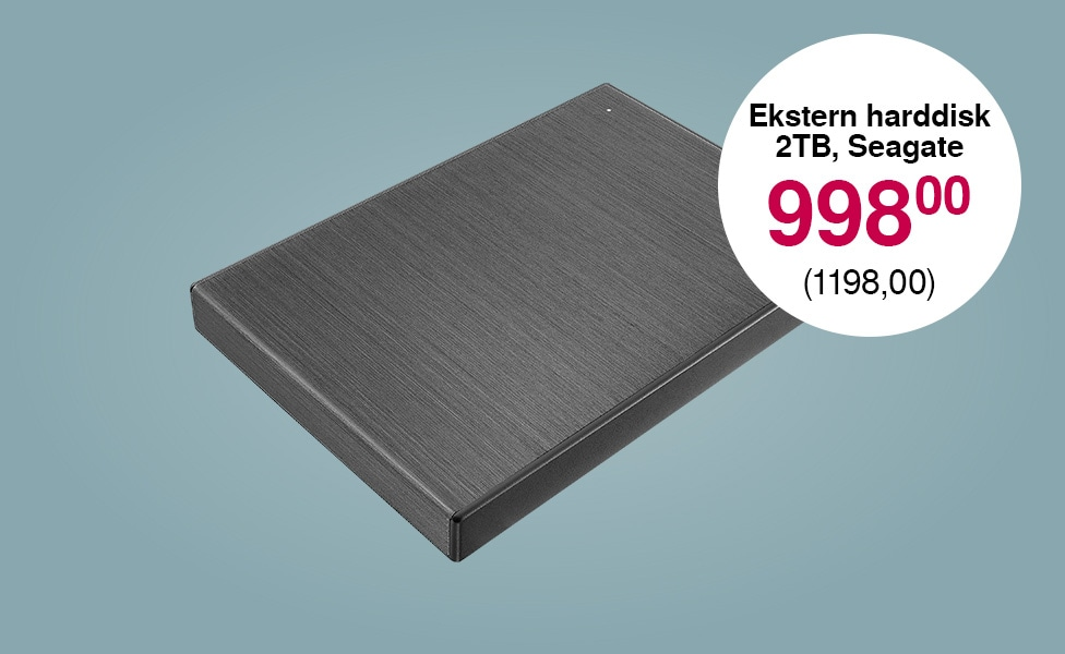 Seagate Backup Plus Ultra Touch, 2 TB ekstern harddisk