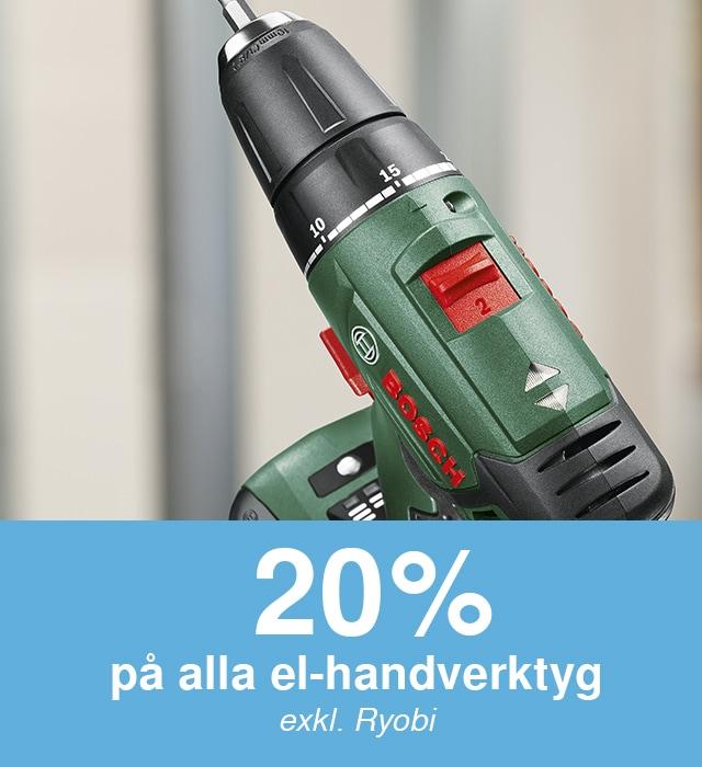 -20% på el-handverktyg