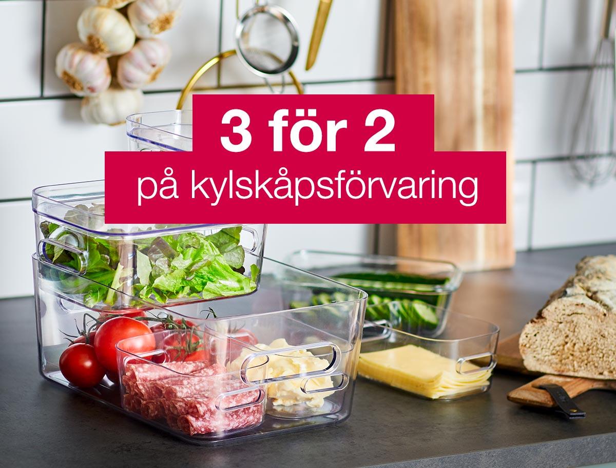 Kylskåpsförvaring, 3 för 2