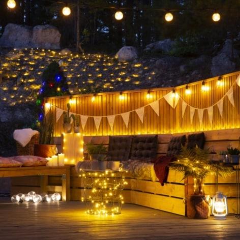 Ljusslingor utomhus och inomhus