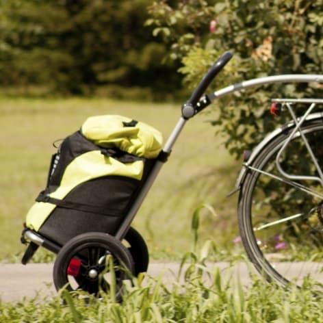 Cykla till affären eller förskolan