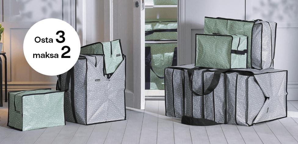 Säilytyslaukut neljässä koossa