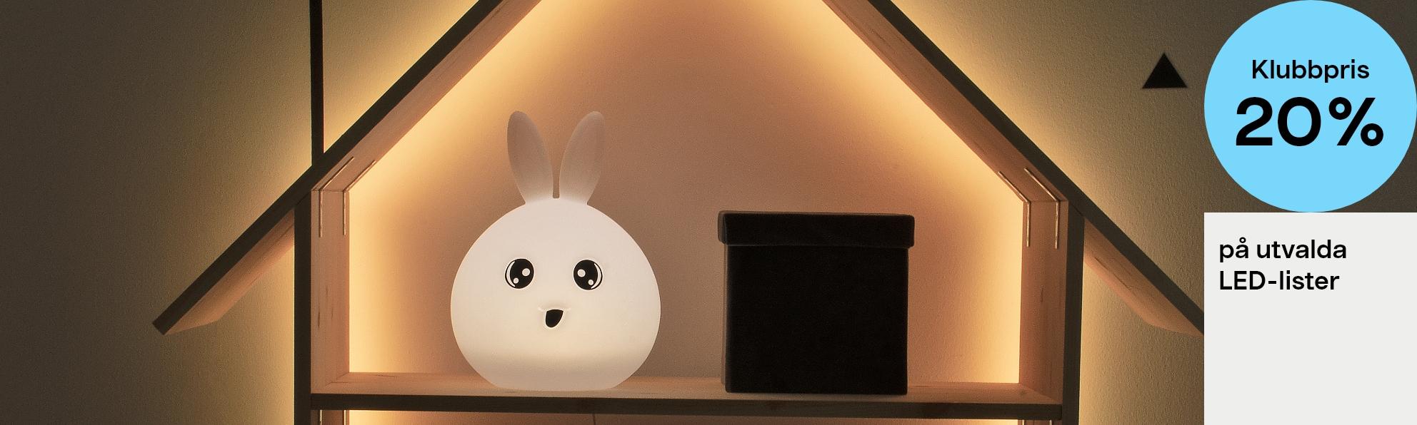 -20 % på utvalgte LED-lister