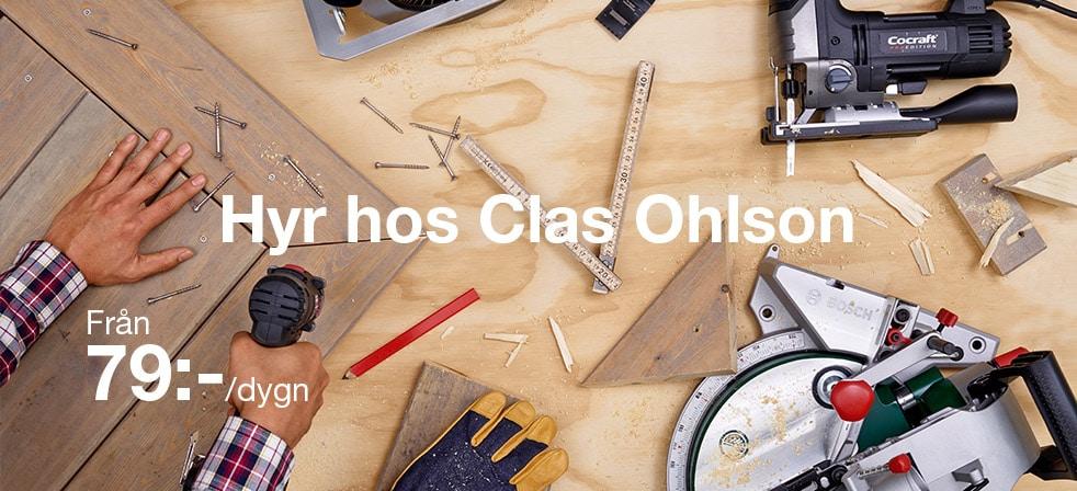 Hyr hos Clas Ohlson