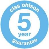 Clas Ohlson 5 års garanti
