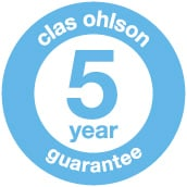 Clas Ohlson 5 year guarantee