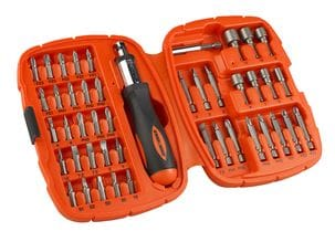 Bits Screwdriver Set Black & Decker 45 pcs