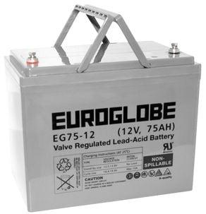 AGM-batteri 12 V, 75 Ah