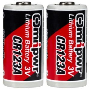 CR123A Lithium Battery, 2-pack