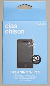 Clas Ohlson Screen Wipes