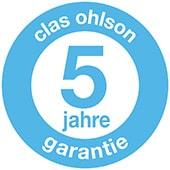 Clas Ohlson bietet immer mindestens 2 Jahre Garantie