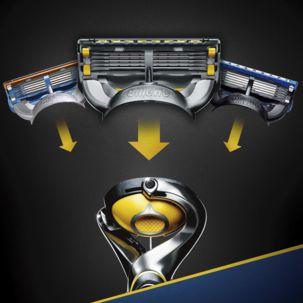 Partahöylä ja 6 terää Gillette Fusion ProShield Yellow