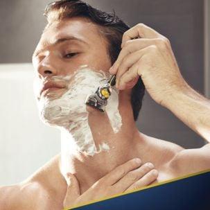 Gillette Fusion ProShield Yellow, barberhøvel og 6 barberblader