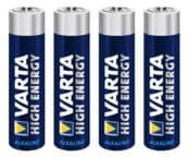 Varta High Energy AAA/LR03 alkalisk batteri