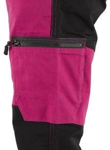Arbetsbyxa med stretch dam, rosa