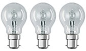 Northlight ECO Classic B22 Halogen Bulbs 3-pack