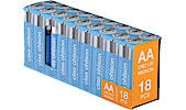 Alkalisk AA/LR6-batteri, 18-pack