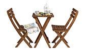 Utemöbler med bord och 2 stolar