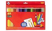Träfärgpennor Sense 40-pack