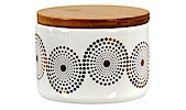 Circle Storage Jar with Bamboo Lid