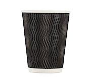 Pappbecher 360 ml, schwarz