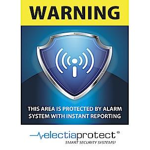 Electia Protect, alarmskilt, 15x10 cm
