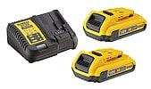 Dewalt XR DCB115D2 batterier og lader