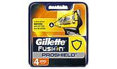 Gillette Fusion ProShield Yellow barberblad, 4-pack