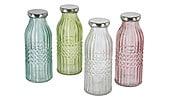 Glasflasche mit Schraubdeckel 4er-Pack